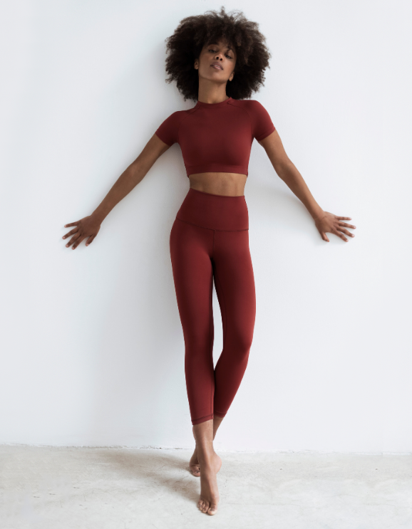 Leggings Capri Wine