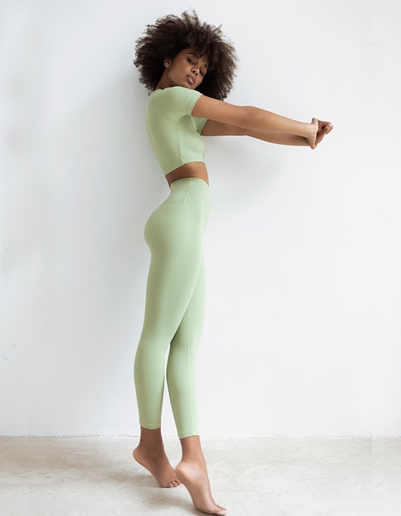 Legging Capri Light Green