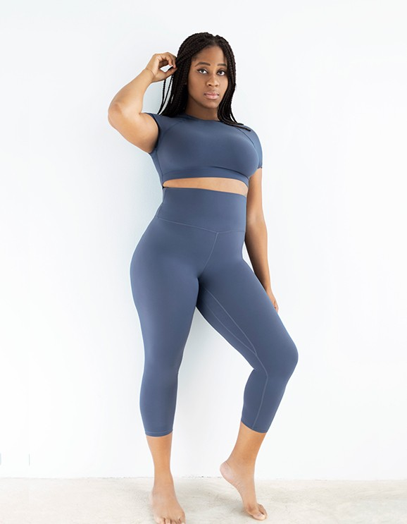 Leggings Capri Netis Dark Blue